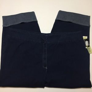 NWT. Style & Co. Plus Size Cropped Jeans